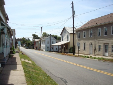 2010 photo of the same section of Main Street, McEwensville.