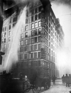 Triangle Shirt Factory Fire--March 25, 1911 (photographer unknown)