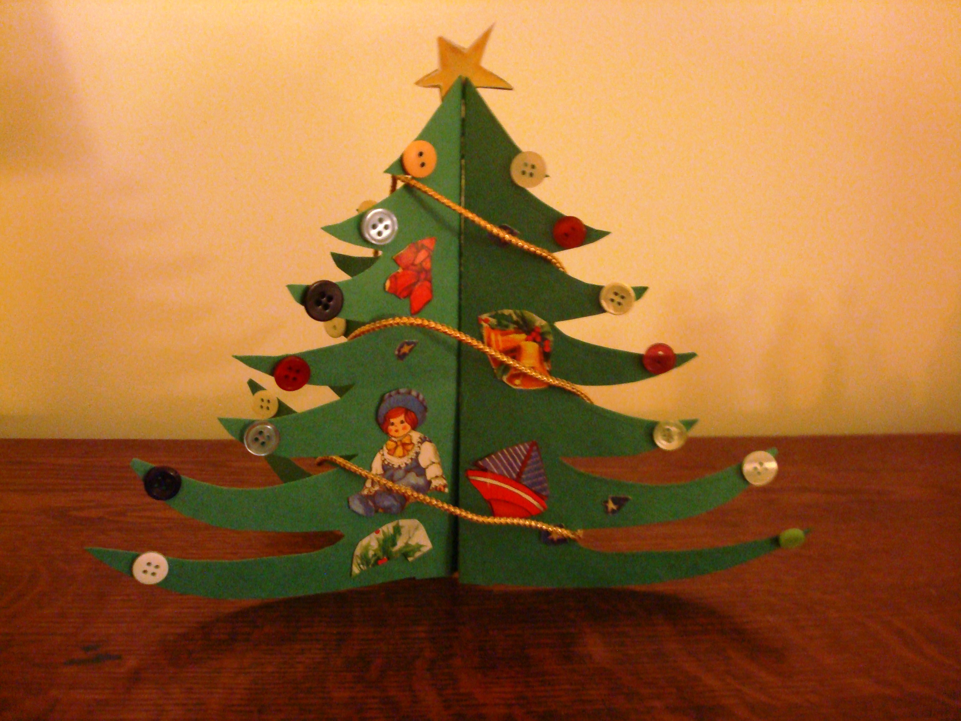 Craft Idea: Make an Old-Fashioned Paper Christmas Tree – A Hundred ...