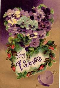 Grandma didn't get any, but here is an example of a nice 1912 valentine postcard.