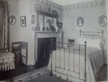Photo of a bedroom in April, 1912 issue of Ladies Home Journal.