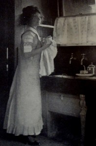 woman wearing apron