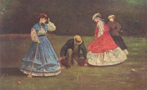 Croquet by Homer Winslow