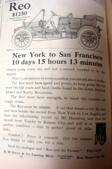 Reo Car Advertisement