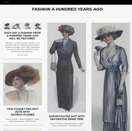 Fashion a Hundred Years Ago