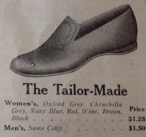 slipper a hundred years ago
