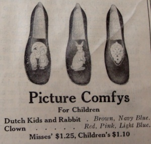 children's slippers a hundred years ago