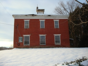 Recent photo of building that once housed McEwensville Schools.