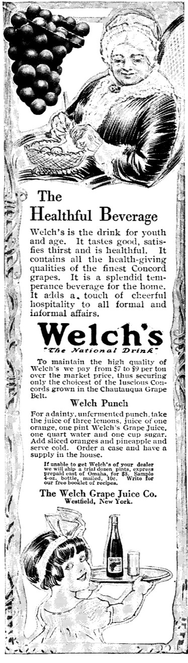 1913 Welch's Grape Juice Adversitement
