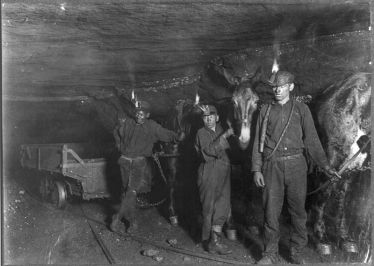 Lewis Hine's picture of child coal miners (Source: Wikimedia Commons)