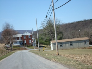 Grandma was about 2/3s of the way home from McEwensville when she passed this house.