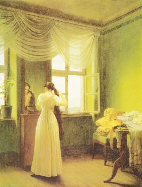 In Front of the Mirror by Georg Friedrich Kersting (Source: Wikimedia Commons)