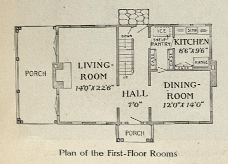 1913 House Plans A Hundred Years Ago