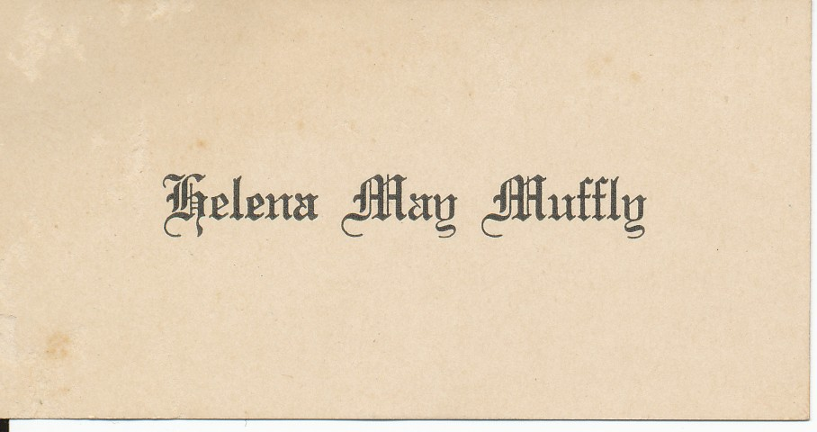 Name Card to Insert in Graduation Invitation – A Hundred Years Ago