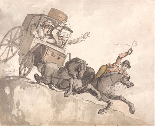 The Runaway Coach by Thomas Rowlandson (Source: Wikimedia Commons)