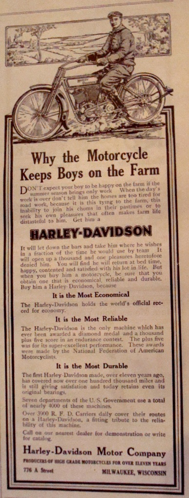 1913 Harely Davidson Adversitement