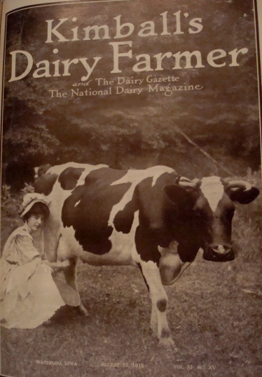 Cover of Kimball's Dairy Farmer Magazine (August 15, 1913)