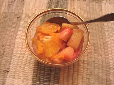rhubarb with orange