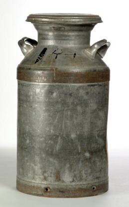 milk can (photo source: Grant-Kohrs Ranch National Historic Site)