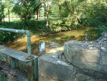 Warrior Run Creek near the Muffly farm