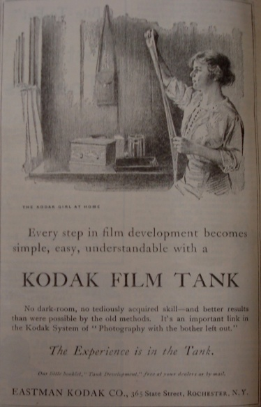 1913 Kodak Film Tank Advertisement