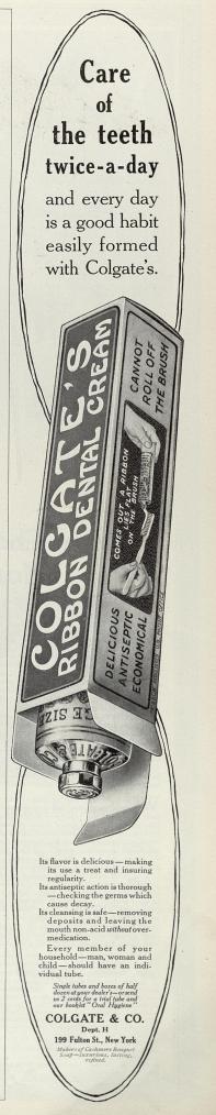 1913 Colgate ad
