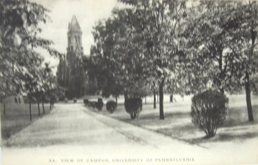 Postcard with picture of Old Main at Penn State (postally used: 1908)