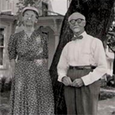 Annie (Derr) Van Sant and Homer Derr (circa, 1955)