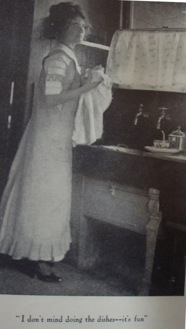 Woman at Sink (Source: Ladies Home Journal, April, 1911)