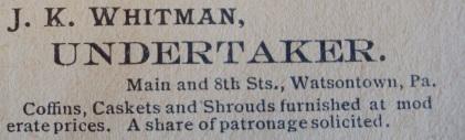 1913 Undertaker Ad