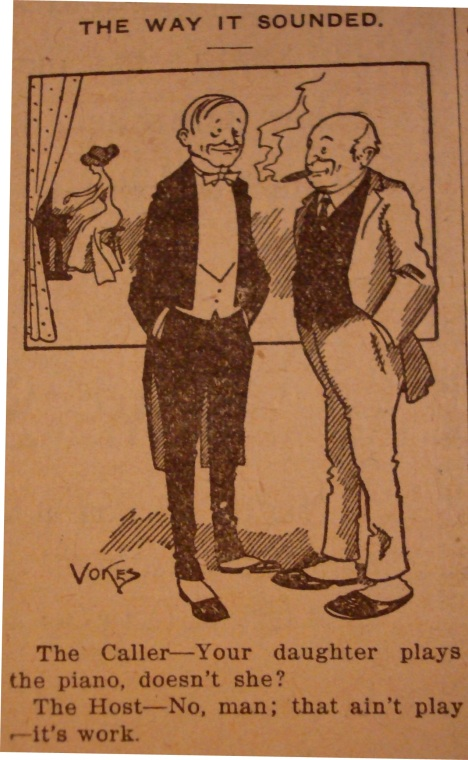 1914 piano cartoon