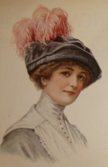 1912 velvet hat with ostrich feather