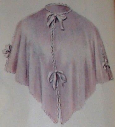 purple combing (bed) jacket