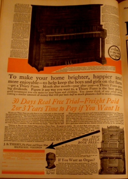 Tiery Piano Advertisement