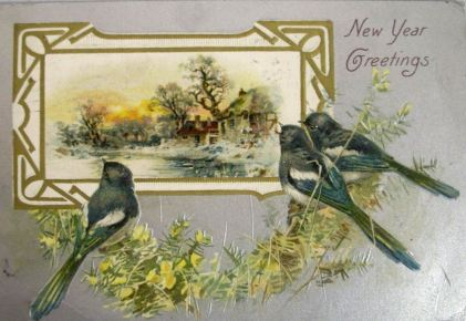 Vintage New Year's Postcard