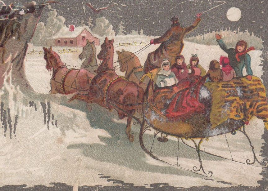 Picture is from vintage Christmas card