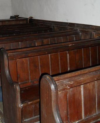 Were Grandma's friends sitting in the pews listening to her recitation? Did they giggle when she forgot her lines?  Photo source: Wikimedia Commons