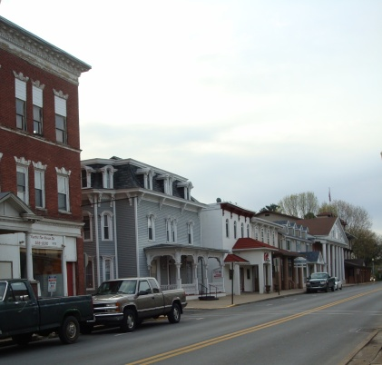 I'm not sure where the Opera House was located, but here is a recent picture of downtown Watsontown.