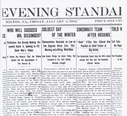 Milton Evening Standard (January 5, 1912)