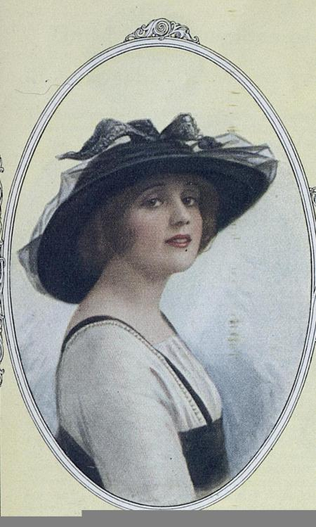 Was shoe blackening used to dye this hat? Source: Ladies Home Journal (February, 1914)