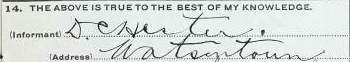 hester death certificate 1912.signature