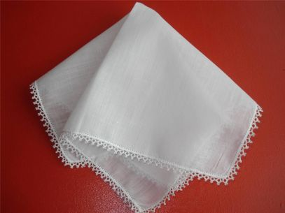 tatted handkerchief