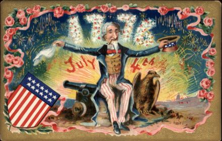 Old 4th of July Postcard (circa 1914)