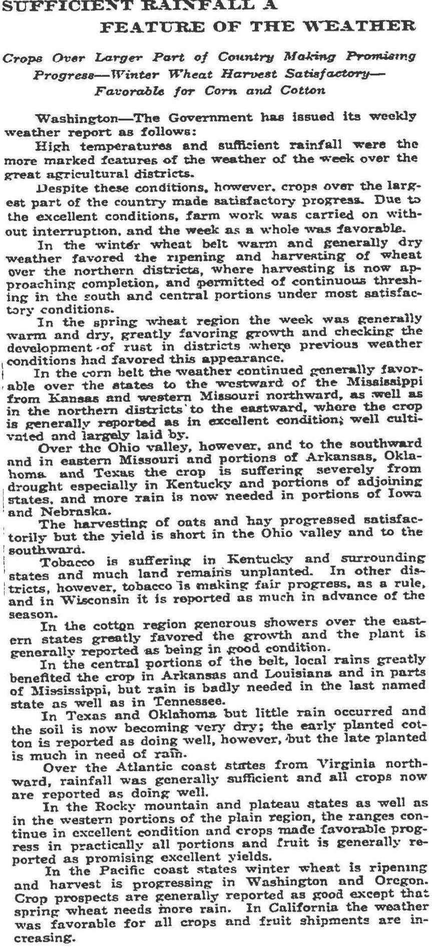 Source: Wall Street Journal (July 15, 1914)