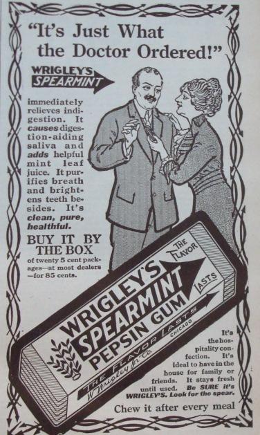 1914 Wrigley's Spearmint Gum Advertisement