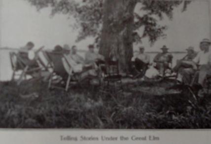 chatting at camp
