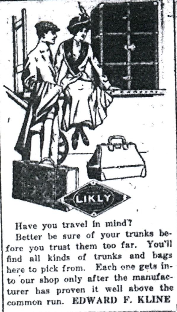 Source: Milton Evening Standard (June 1, 1913)