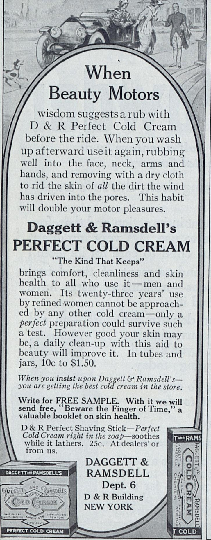 1914 Cold Cream Advertisement