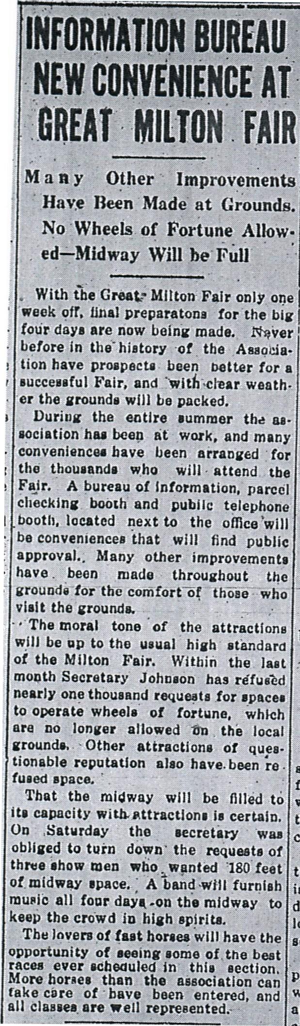 Source: Milton Evening Standard (September 21, 1914)