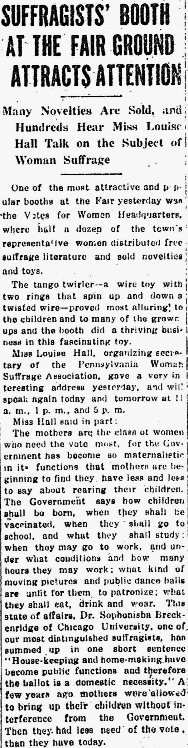 Source: Milton Evening Standard (October 1, 1914)